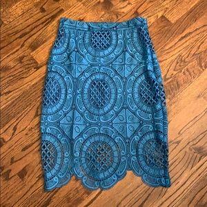 Nikibiki blue lace skirt M